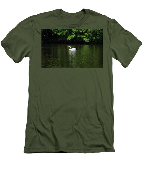 Men's T-Shirt (Slim Fit) featuring the photograph Mute Swan by Sandy Keeton