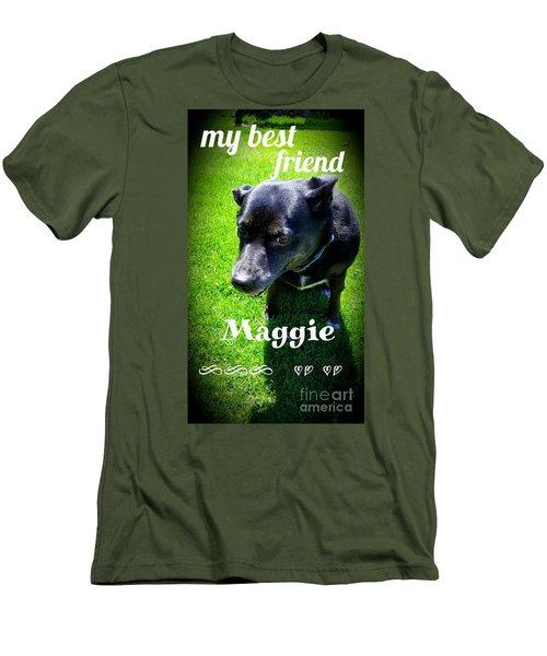 My Best Friend  Men's T-Shirt (Athletic Fit)