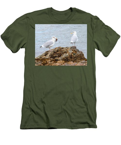 Men's T-Shirt (Athletic Fit) featuring the photograph My Crab Go Away by Debbie Stahre