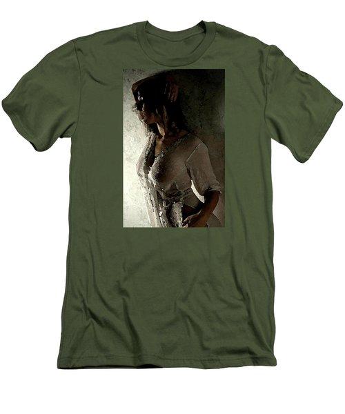 My Desire. Men's T-Shirt (Slim Fit) by Shlomo Zangilevitch