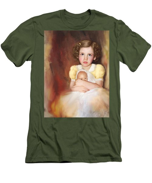 Men's T-Shirt (Slim Fit) featuring the photograph My Dolly by Bonnie Willis