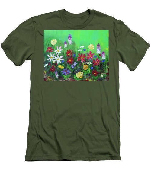 My Happy Garden 2 Men's T-Shirt (Slim Fit) by Haleh Mahbod
