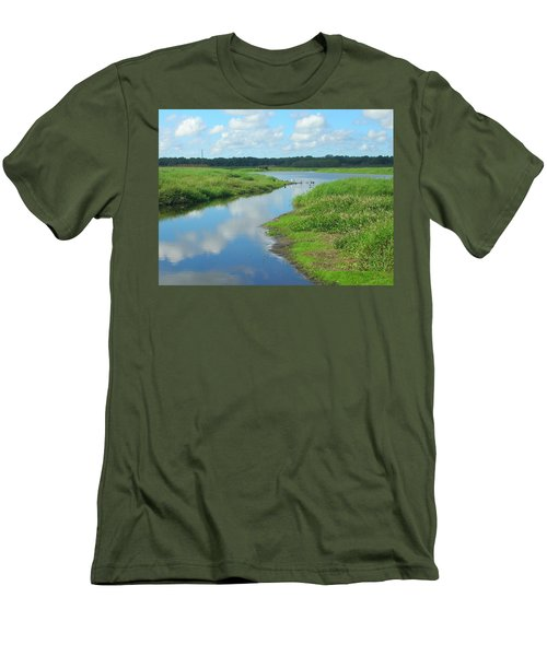 Men's T-Shirt (Slim Fit) featuring the photograph Myakka River Reflections by Emmy Marie Vickers