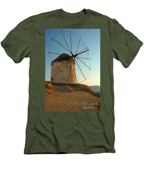 Mykonos Windmill  Men's T-Shirt (Athletic Fit)