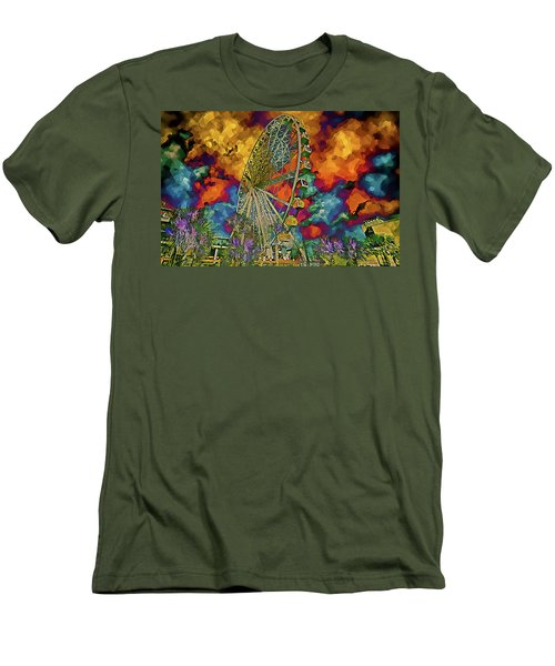 Myrtle Beach Skywheel Abstract Men's T-Shirt (Athletic Fit)