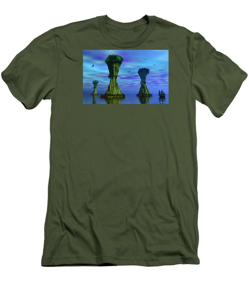 Mysterious Islands Men's T-Shirt (Slim Fit) by Mark Blauhoefer