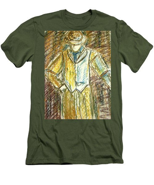 Men's T-Shirt (Slim Fit) featuring the painting Mystery Man by Cathie Richardson