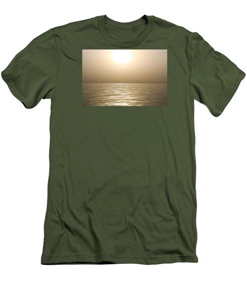 Mystery Sandstorm Sunset- The Red Sea Men's T-Shirt (Slim Fit) by Glenn Feron