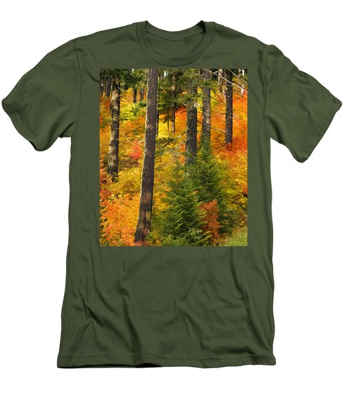 N W Autumn Men's T-Shirt (Slim Fit) by Wes and Dotty Weber