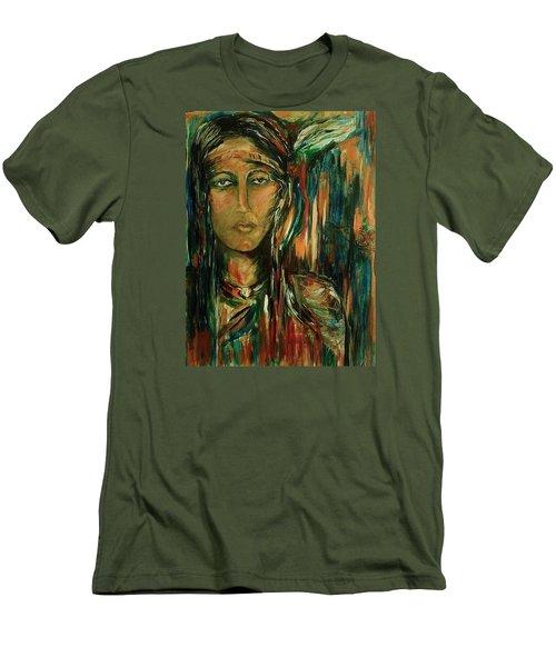 Nancy Ward Beloved Woman Nanye Men's T-Shirt (Slim Fit) by Dawn Fisher