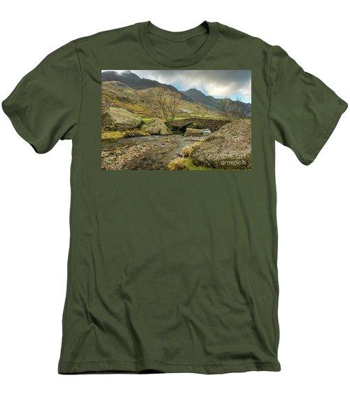 Men's T-Shirt (Slim Fit) featuring the photograph Nant Peris Bridge by Adrian Evans
