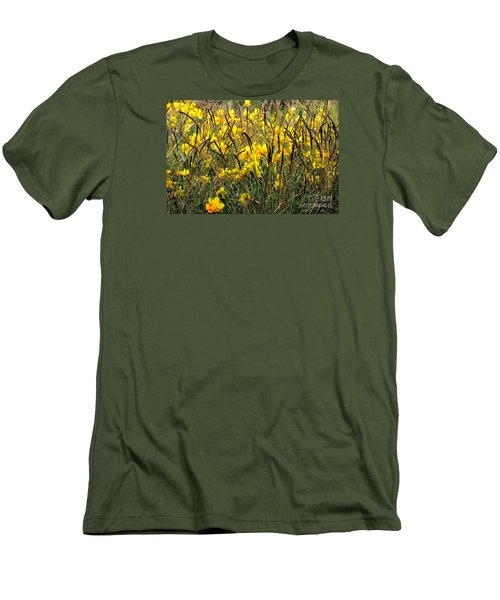 Narcissus And Grasses Men's T-Shirt (Slim Fit) by Tanya Searcy