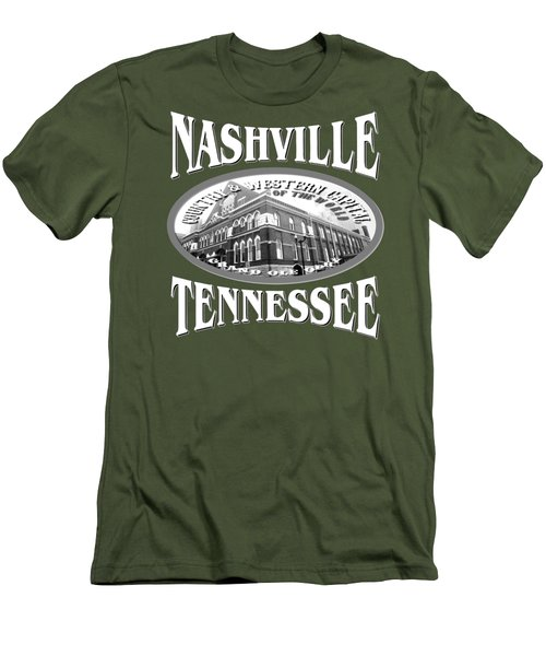 Nashville Tennessee Design Men's T-Shirt (Athletic Fit)