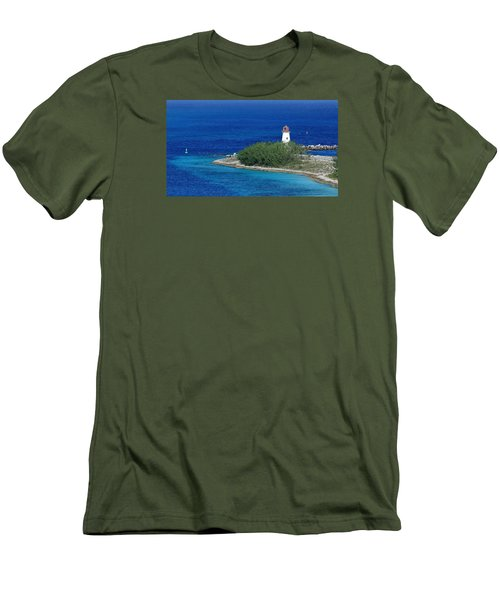 Men's T-Shirt (Slim Fit) featuring the photograph Nassau Lighthouse 1 by Coby Cooper