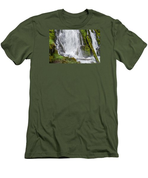 National Falls 2 Men's T-Shirt (Slim Fit) by Greg Nyquist
