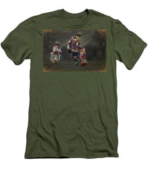 Native American Dancers Men's T-Shirt (Athletic Fit)