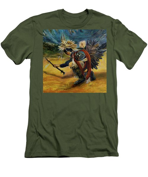 Native American Rain Dance Men's T-Shirt (Athletic Fit)