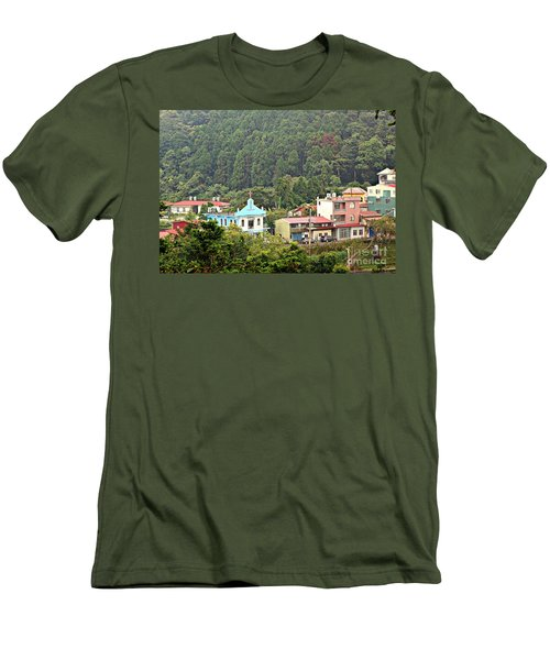 Men's T-Shirt (Slim Fit) featuring the photograph Native Village In Taiwan by Yali Shi