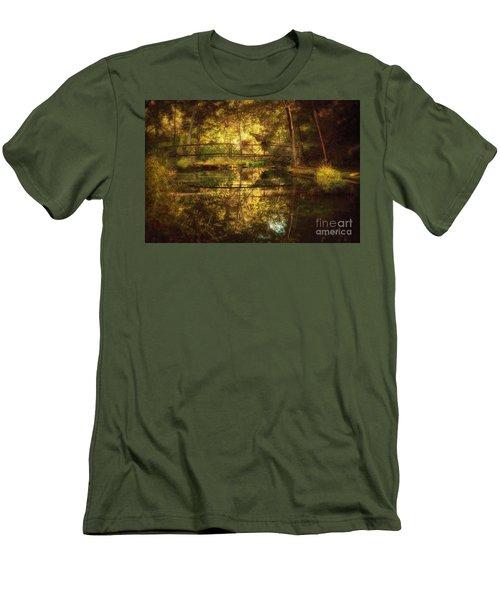 Natural Falls Bridge  Men's T-Shirt (Slim Fit) by Tamyra Ayles