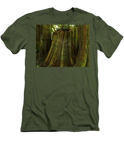 Nature Buddha Men's T-Shirt (Slim Fit) by I'ina Van Lawick