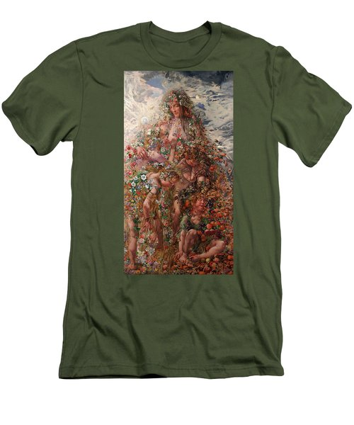 Nature Or Abundance Men's T-Shirt (Slim Fit) by Leon Frederic