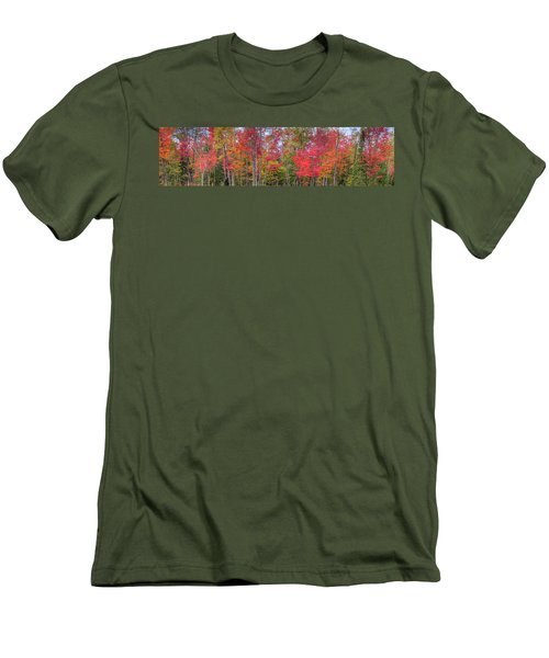 Men's T-Shirt (Slim Fit) featuring the photograph Natures Autumn Palette by David Patterson