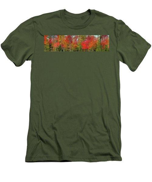 Men's T-Shirt (Slim Fit) featuring the photograph Natures Fall Palette by David Patterson