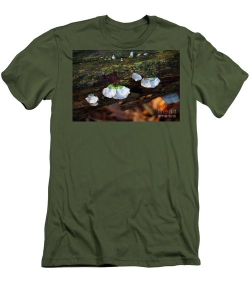 Men's T-Shirt (Slim Fit) featuring the photograph Natures Ruffles - Cascade Wi by Mary Machare