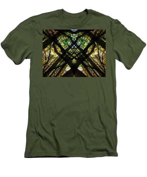 Natures Stain Glass Men's T-Shirt (Athletic Fit)