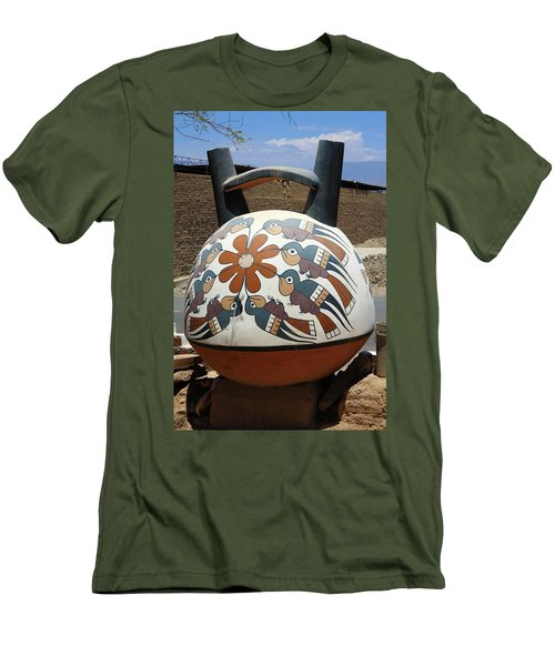 Men's T-Shirt (Slim Fit) featuring the photograph Nazca Ceramics Peru by Aidan Moran