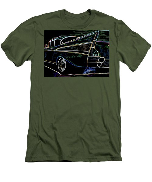 Neon 57 Chevy Bel Air Men's T-Shirt (Athletic Fit)