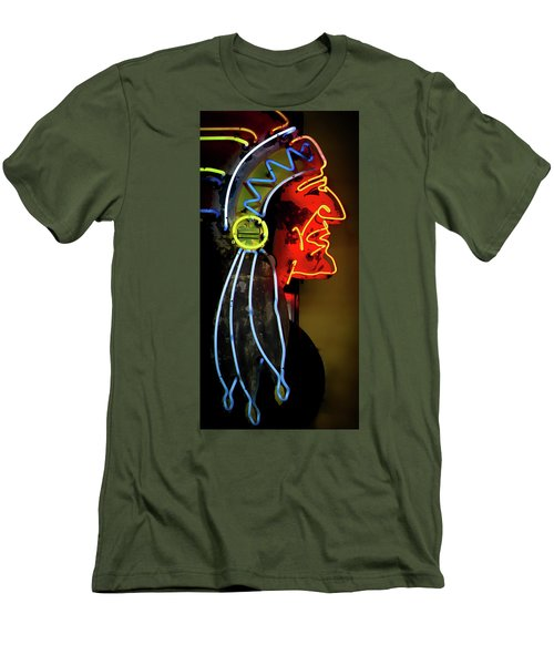 Neon Navajo Men's T-Shirt (Slim Fit) by David Patterson