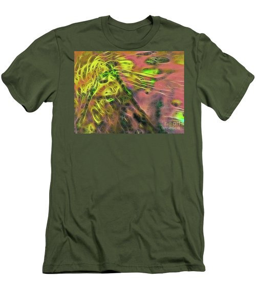 Neon Synapses Men's T-Shirt (Slim Fit) by Todd Breitling