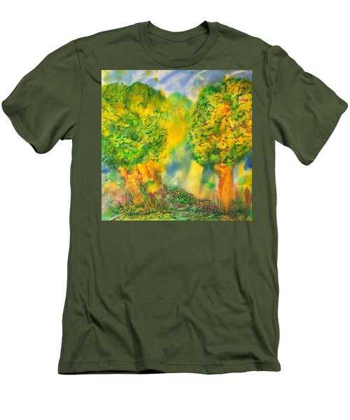 Men's T-Shirt (Slim Fit) featuring the painting Never Give Up On Your Dreams by Susan D Moody