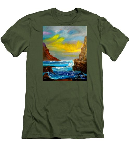 New Day In Paradise Men's T-Shirt (Athletic Fit)