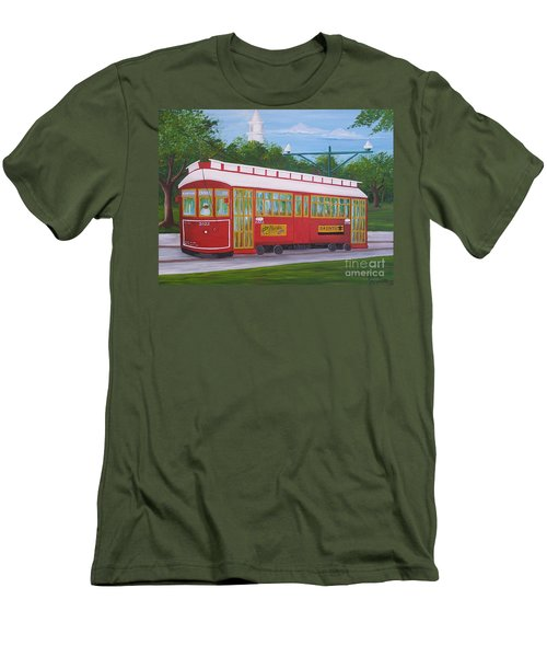New Orleans Streetcar Men's T-Shirt (Athletic Fit)