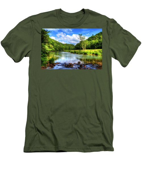 New River Summer Men's T-Shirt (Slim Fit) by Dale R Carlson