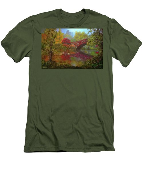 New York In Fall Men's T-Shirt (Athletic Fit)