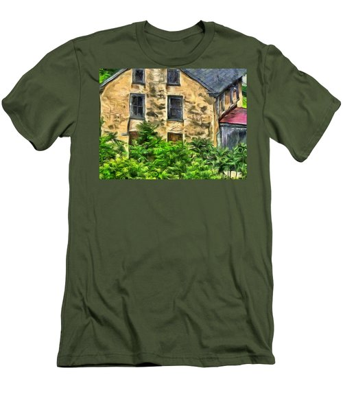 Men's T-Shirt (Slim Fit) featuring the mixed media Niccolo by Trish Tritz