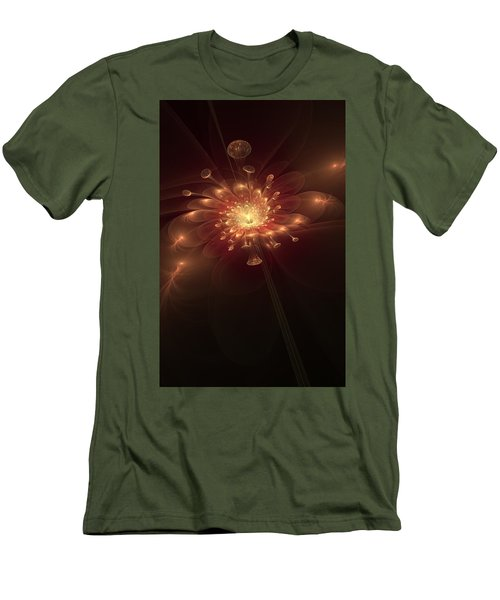 Night Bloom Men's T-Shirt (Slim Fit) by Svetlana Nikolova