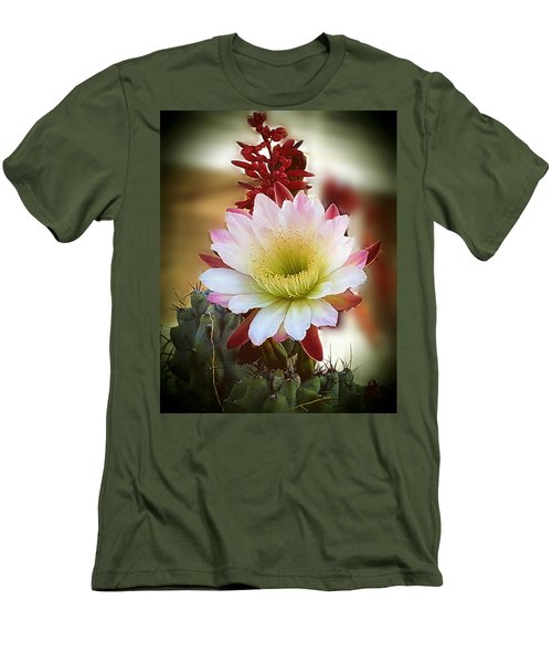 Men's T-Shirt (Slim Fit) featuring the photograph Night-blooming Cereus 2 by Marilyn Smith