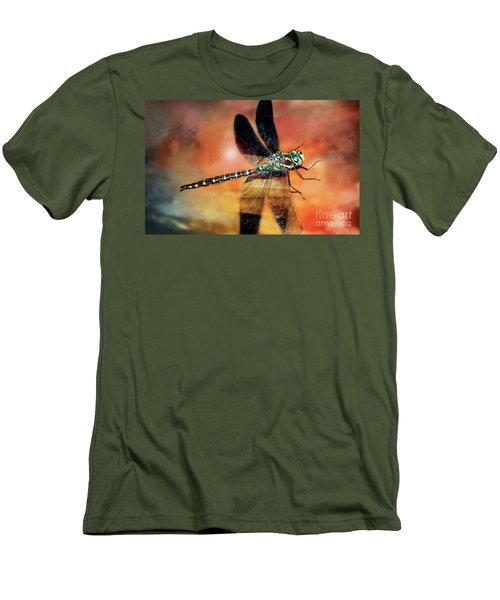 Night Light Of The Dragonfly Men's T-Shirt (Athletic Fit)