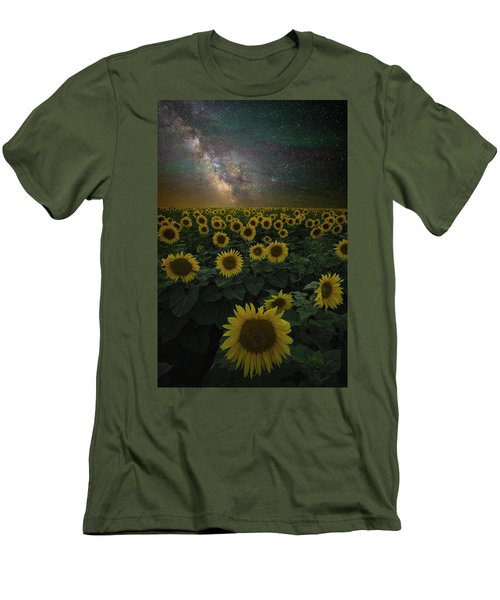Men's T-Shirt (Athletic Fit) featuring the photograph Night Of A Billion Suns by Aaron J Groen