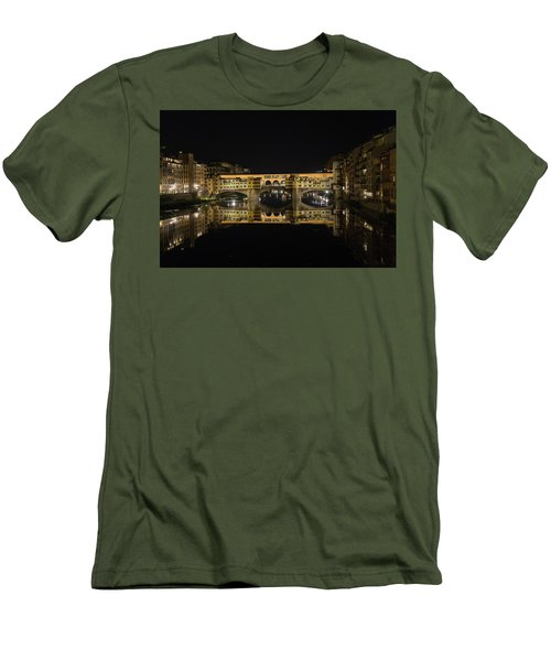 Night Reflections Of The Ponte Vecchio Men's T-Shirt (Athletic Fit)