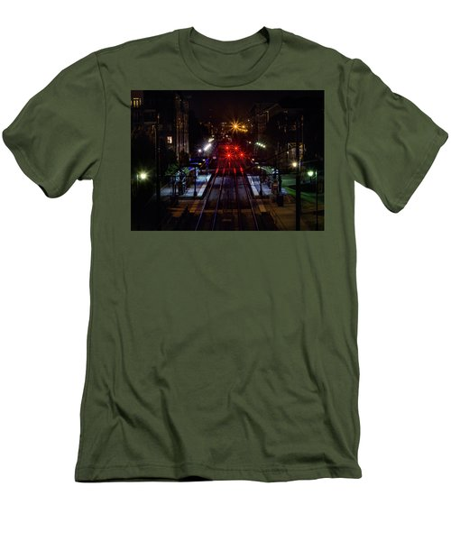 Night Tracks Men's T-Shirt (Athletic Fit)