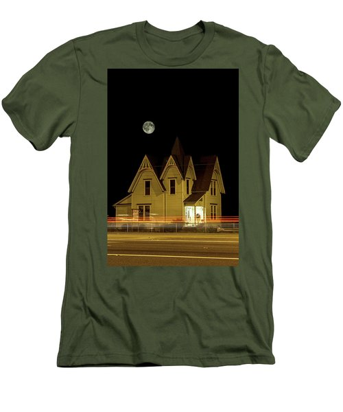 Night View Men's T-Shirt (Slim Fit) by Tony Locke