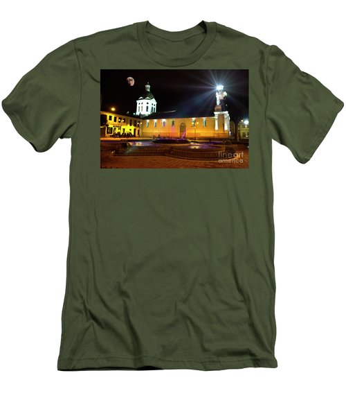 Men's T-Shirt (Slim Fit) featuring the photograph Nighttime At San Sebastian by Al Bourassa
