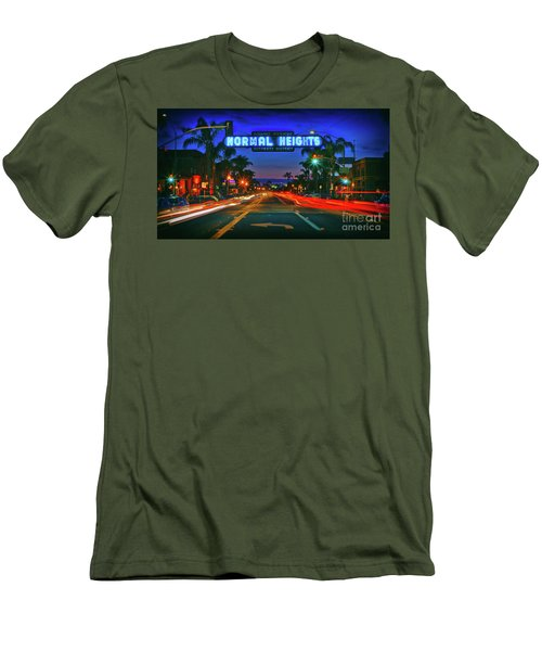 Nighttime Neon In Normal Heights, San Diego, California Men's T-Shirt (Athletic Fit)