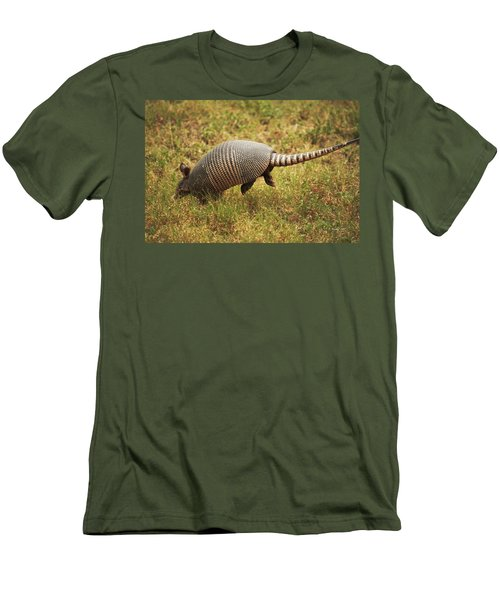 Nine-banded Armadillo Jumping Men's T-Shirt (Athletic Fit)