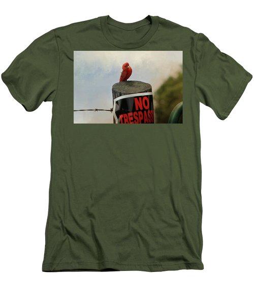 No Trespassing Men's T-Shirt (Slim Fit) by TnBackroadsPhotos